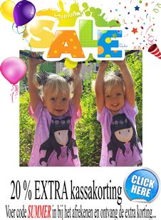 Summersale ! bij Mini Fashion 20 % extra korting